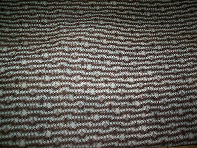 "dressmaking craft material crepe effect brown cream 2 yds 32"" X 54"" NEW"
