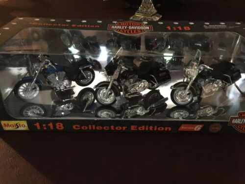Maisto 1:18 Collector Edition Harley Davidson Cycles Die Cast Series 6