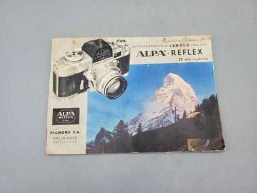 Original Alpa Reflex 35mm Camera Interchangeable Lenses Advertising Brochure