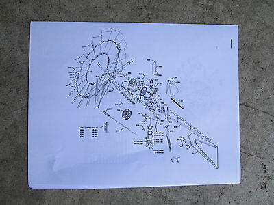 Parts List With Diagrams For Chicago Aermotor 702 Style Windmill