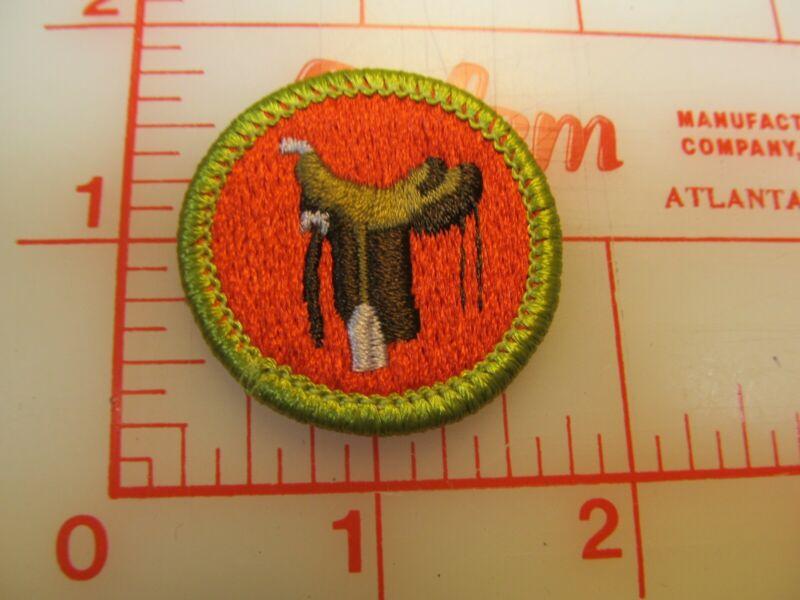 HORSEMANSHIP merit badge plastic backed patch (oP)