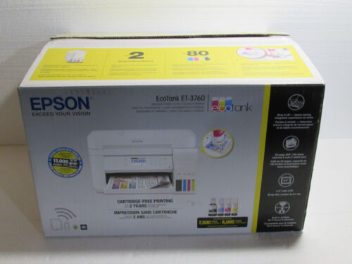 Epson EcoTank ET-3760 All-in-One Supertank Printer, Page Count 100 Or less