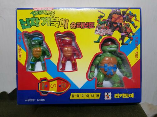 RARE 1993 Vintage Teenage Mutant Ninja Turtles Korea Figure Toy Model