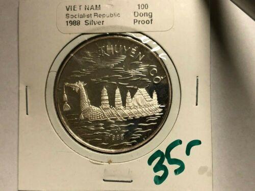 1988 - Vietnam - 100 Dong - PROOF