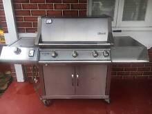 Rinnai Impressor 5 - 5 burner Natural Gas BBQ and Cover. Victoria Park Victoria Park Area Preview