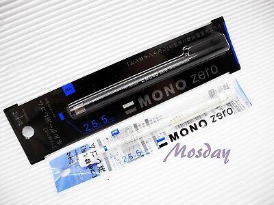 1 Barrel 2 Extra Refills Tombow Mono Eh-kus Retractable Rectangle Eraser Bk