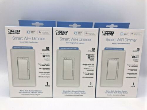 Feit Electric Wi-Fi Smart Dimmer, 3-pack