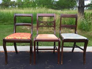 3 Mahogany Wood Chairs
