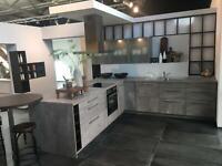 NEUE Einbauküche L-Form Küche Beton D08 Nordrhein-Westfalen - Minden Vorschau