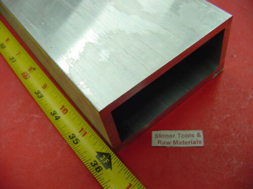 "2"" x 4"" x 1/4"" Wall ALUMINUM RECTANGLE TUBE 6061 T6 x 36"" Long 2.0""x 4.0""x .25"""