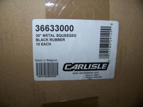 "Carlisle 30"" Metal Squeegee Black Rubber 10 ea. 36633000 New"