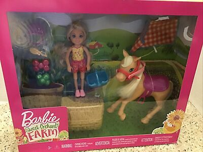 Barbie Sweet Orchard Farm Chelsea With Horse And Accessories.