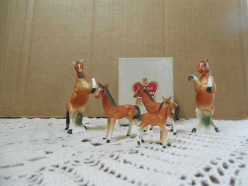Miniature Bone China Japan Horses
