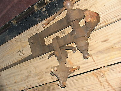 Old Vintage Antique Post Vise 4 12 Jaws Black Smith