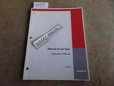 Case Rbx443 Round Baler Operators Manual 87056215