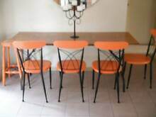 VINTAGE INDUSTRIAL RETRO TRESTLE/DINING TABLE 180CM Rosanna Banyule Area Preview