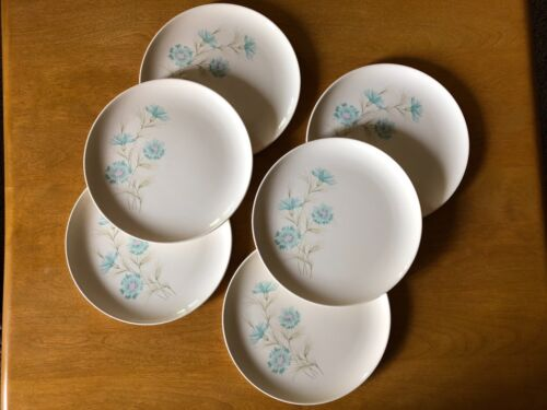 Vintage SET of 6 ~ Smith Taylor boutonniere Bouquet Ever Yours Plate Plates MCM