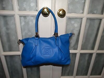 LIZ CLAIBORNE Royal Blue Designer Handbag Purse w/Shoulder Strap