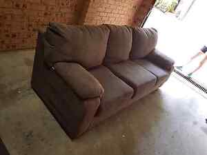 Brown 3 seater Lounge Hunters Hill Hunters Hill Area Preview
