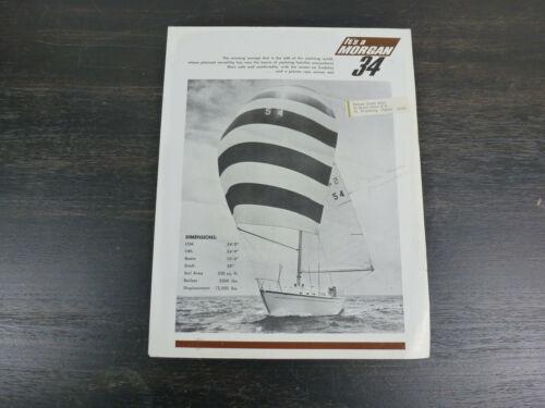 Morgan 34 original factory sailboat brochure