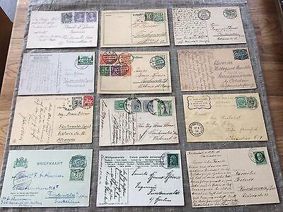 alte Postkarten mit Briefmarken