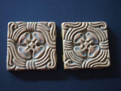 Pair of Batchelder Glazed Tiles