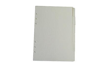 Plain Divder 5 Pages Suitable For A5 Standard Filofax 6 Hole