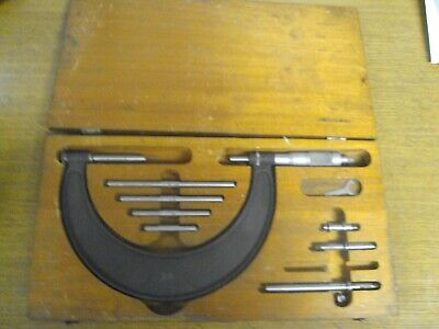 Brown Sharpe Micrometer Set 2 - 6 Inch Complete In Case
