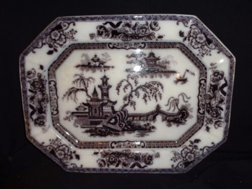 Antique Pelew Pattern Ironstone Platter
