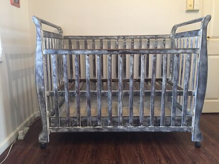 Baby cot, mattress and protect cover Adamstown Newcastle Area Preview