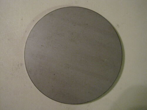 """1/8"""" Steel Plate, Disc Shaped, 6"""" Diameter, .125 A1011 Steel, Round, Circle"""