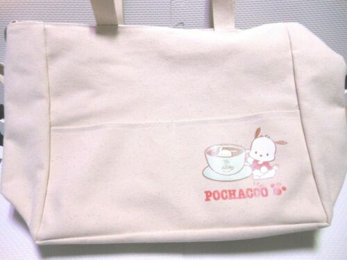 Sanrio Character Pochacco Japan 2 Way Tote bag Size 12.99 in × 11.41 in