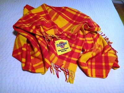 Pedigree Chum Best of Breed Winner Plaid Wool Dog Throw Blanket