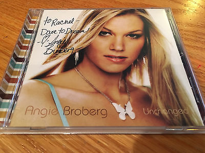 "MINT Autographed Angie Broberg ""unchanged"" CD"