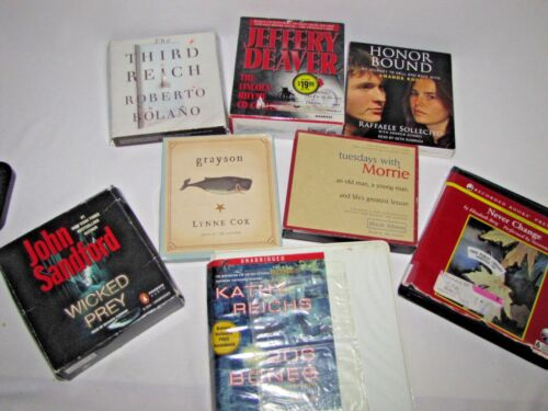 Lot of 8 CD Audio Books - 10 Stories - Mysteries, Drama, Etc
