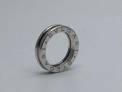 From japan Auth BVLGARI B-zero1 Ring 18K AU750 WG White Gold US size 5 XS49