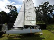 PRICE REDUCED FIBERGLASS TRIMARAN + NACRA F/GLASS OUT RIGGERS Woombye Maroochydore Area Preview