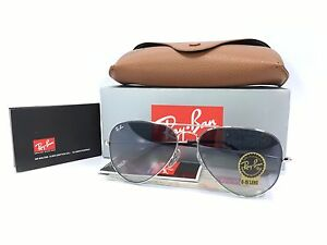 Ray Ban Aviator RB3025 003/32 Silver Frame Gradient Gray Lens 58mm
