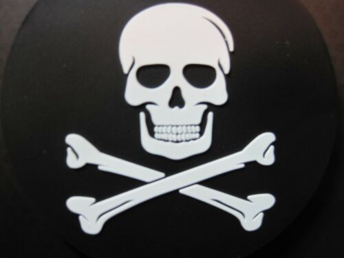 JOLLY ROGER PIRATE SKULL & CROSSBONES LUGGAGE ID TAG FOR BACKPACK ETC. CLOSEOUT