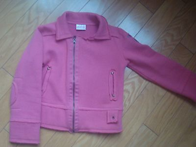 EUC Mish pink fanky cardigan 65%cotton size M fit 5-7 year old, warm, pockets