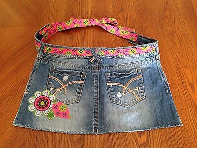 NEW HANDMADE APRON UPCYCLED REPURPOSED DENIM JEANS REDNECK COUNTRY GIRL