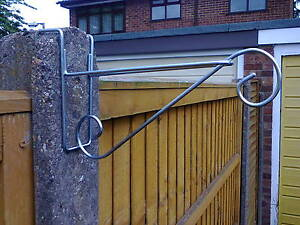 3 X HANGING BASKET BRACKETS FOR CONCRETE FENCE POSTS (H SECTION )