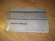 BMW E30 Owners Manual