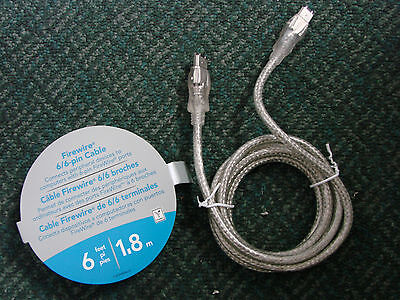 Dynex 6' IEEE 1394 FireWire 6 Pin to 6 Pin Cable DX-C112221