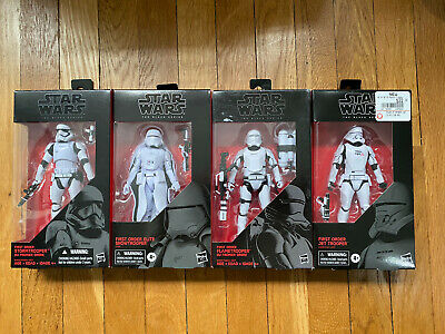Star Wars Black Series First Order Stormtrooper, Elite Snowtrooper, Flame, & Jet