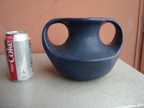 "Cambridge Pottery Arts & Crafts 6"" by 8"" Matte Blue Vase"