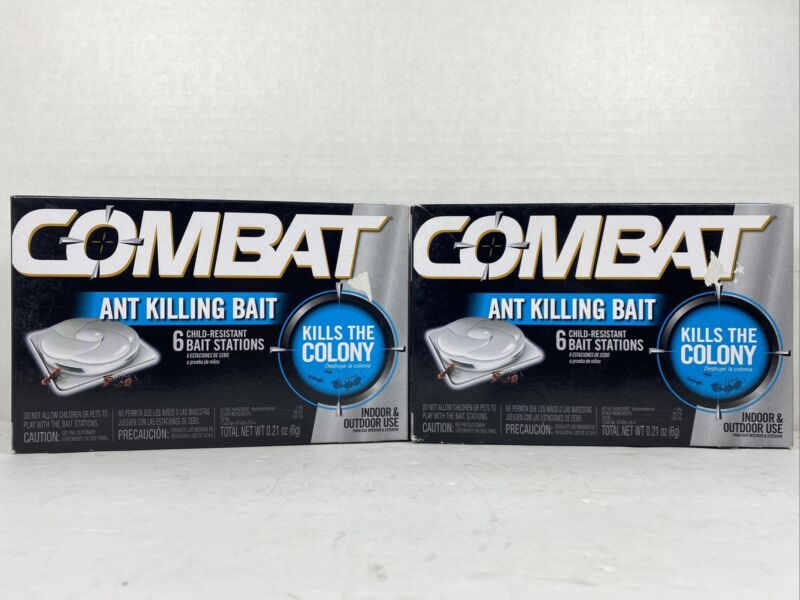 2-Pack Combat Ant Killing System, Child-Resistant, Kills Queen & Colony 6 Pieces