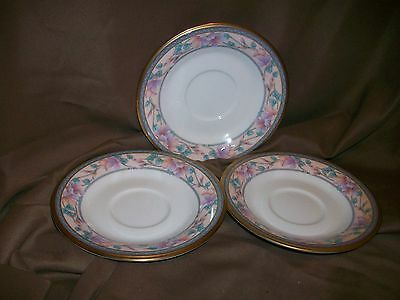 3 Noritake Japan Embassy Suite Pattern Saucers