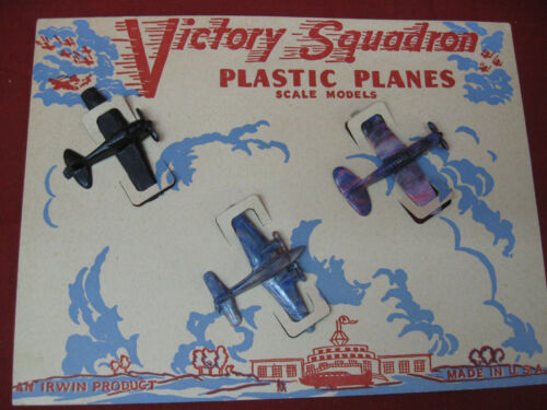Vintage Victory Squadron Plastic Planes by Irwin Products
