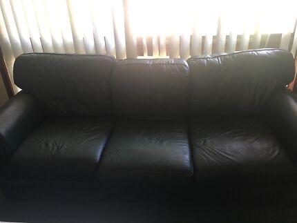 5 seater leather sofa